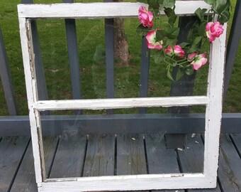 Vintage Wood Window, Two Pane, 2 Pane, Old Wood Window, Home Decor, Antique Window, Country Decor, Wedding Sign, Menu Board, Wood Sign 175