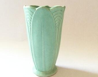 Brush McCoy Art Deco Stoneware Vase