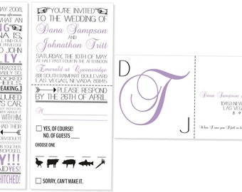 Our Story Wedding Invitation