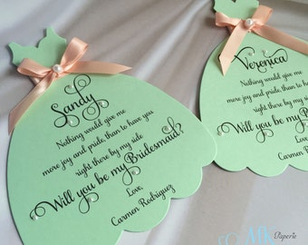 Will you be my Bridesmaid Wedding Invitation