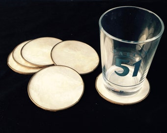 Coasters//Coaster Set//Drinks Coasters//Oyster Shell Coasters//Set Of Six Retro Coasters//Vintage Drinks Coasters//Found And Flogged