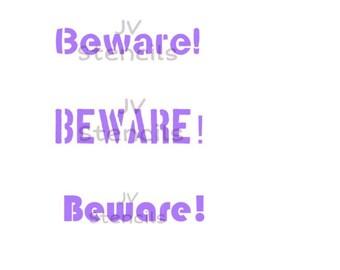 Beware Stencil