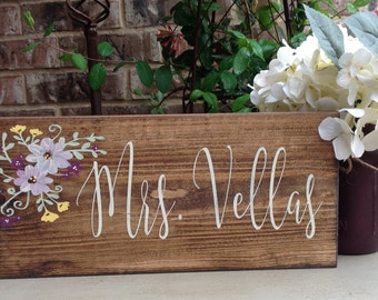 Teacher Gift, Teacher Name Sign, Teacher Appreciation Gift, Custom Sign, Sign, Wood Sign, Personalized Teacher Sign