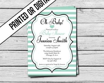 Printed or Digital File - Gender Neutral - Baby Shower Invitation