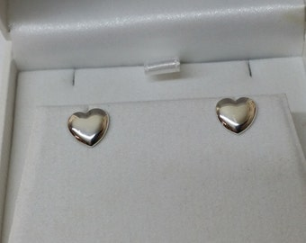 925 Silver Ohrhstecker earrings heart vintage SO181