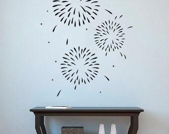 Firework Wall Decal Fireworks Vinyl Sticker Wall Vinyl Decorations Home Art Decor (5frk)