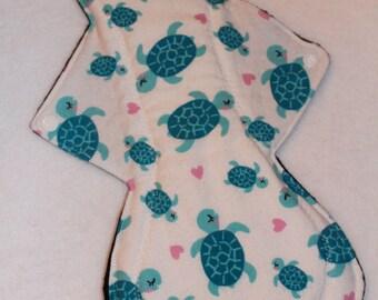 14in Overnight/Postpartum Cloth Pad- Turtle Love
