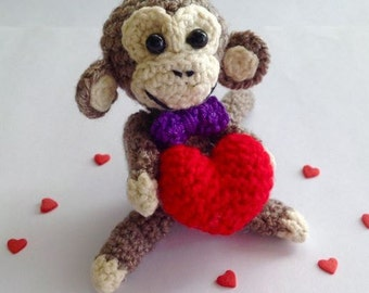 Monkey Crochet, Amigurumi Monkey, Toy Babies, Crochet Toy, Children Toy, Amigurumi, Collectible Monkey, Handmade, Gifts ideas, Ready to Ship