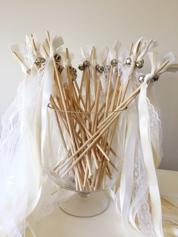 50 wedding wands wedding send off streamers ribbon wands for Wedding wands