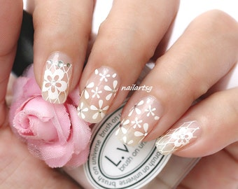 White Lace Nail Stickers (Part 1)