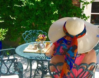 Wide Brim Hat, Straw Hat, Beach Hat, Hat with Ribbon, Floppy Hat, Large Beach Hat, Wide Brim Sun Hat, Sunhat for Woman, Beige Floppy Hat