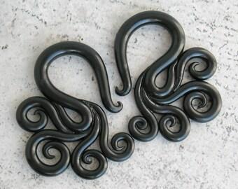 Tentacle Gauges or Fake Gauge Earrings, Ear Gauges, Fake Plugs, Tentacle Plugs, Faux Gauges, Ear Plugs 2g, 0g, 00g