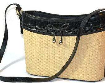 Basket Weave, Box Purse, Woven, Handbag Textile Purse,  Boho Bag, Shoulder Bag, Fall Accessories