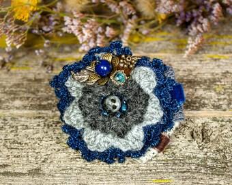 "Brooch, textile brooch, flower brooch,brooch boho, a gift for nee- ""Abbigeyl"""
