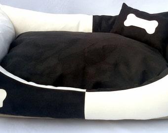Dog Bed Marlon Black&White