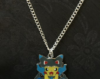 Silver Plated Nintendo Pokemon Cosplay Pikachu Charizard X Necklace