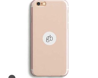 Clear Transparent iPhone case, iPhone 6 6s Plus Slim Phone Case, Hard Clear Iphone 6s Case, Iphone 6 Plus Name Case, Initial iPhone 5s Case