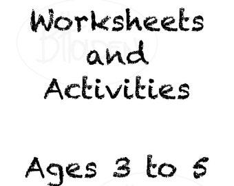 Preschool worksheets | Etsy