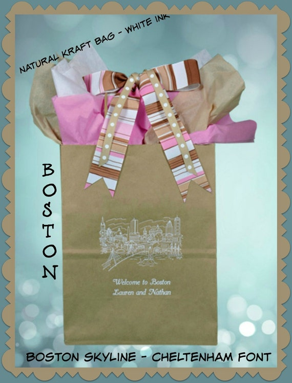 Boston Wedding Gift Bag Ideas : ... Wedding Guest Gift Bag Welcome Bag for Weddings Celebrating Boston, MA
