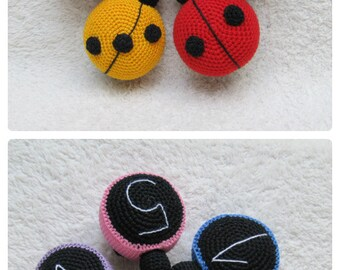 montessori toys crochet child gifts for kids ladybugs color learning game educational toys preschool montessori child toys toddler gift baby