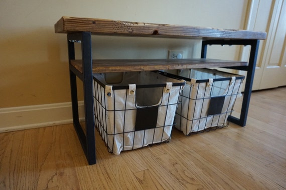 Entryway Bench - Rustic Entryway Bench, Entryway Storage, Wood Bench ...