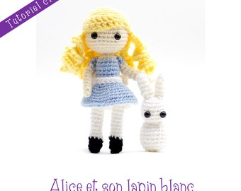 Tutoriel crochet : Alice et son Lapin blanc