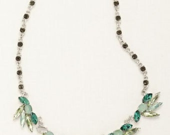 Emerald Crystal Chain Necklace