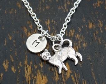 Cat Necklace, Cat Charm, Cat Pendant, Cat Jewelry, Cat Lover Gift, Cat Gifts, Cat Memorial Jewelry, Cat Mom, Cat Sister, Cat Daughter