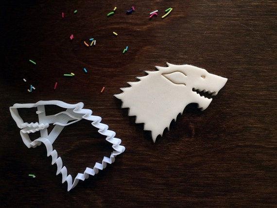jon snow wedding cake topper house stark wolf sigil cookie cutter of by 16610