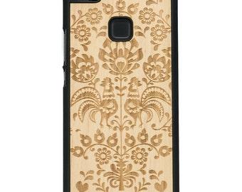 Huawei P9 LITE  - Polish Folk - Real Wood Phone Case