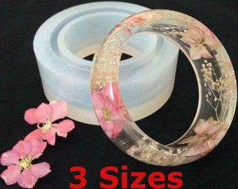 Clear Silicone MOLD, Transparent MOLD: Smooth Wide Bangle Bracelet   #SM001