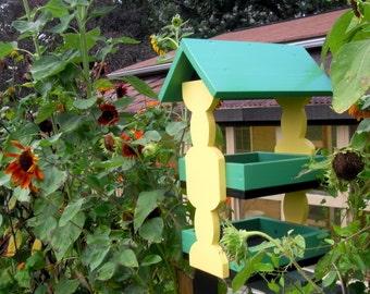 2-Tray Bird Feeder - choice of colors!