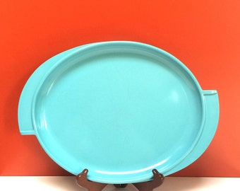 Turquoise Atomic Oval Platter