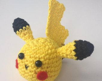 PATTERN - Pikachu keychain crochet, Crochet Pikachu Head, Amigurumi pattern, Plush crochet pattern, Pikachu plush, Pokemon crochet, Pokemon