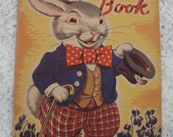Vintage Children's Book The Bow Tie Book 1942 Illustrations Milo Winter Cute Animals