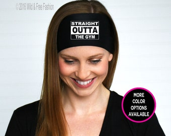 Straight Outta The Gym Headband | Gym Headband