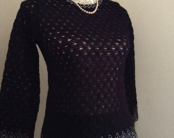 Vintage 1960s Knitted skirt and jumper, size 10