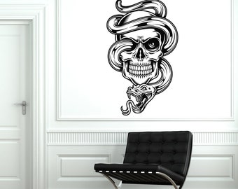 Wall Vinyl Decal Skull Death Sneak Scary Guaranteed Quality Decor 2027di