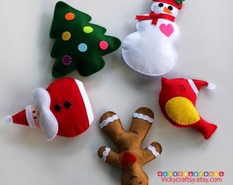 Christmas Ornaments - Felt Plush Ornaments - Christmas Tree ornaments