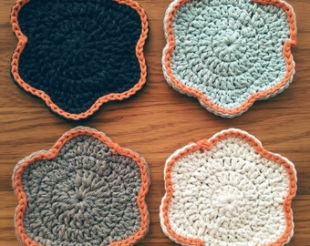 Grey Ombre Coasters - Set of Four