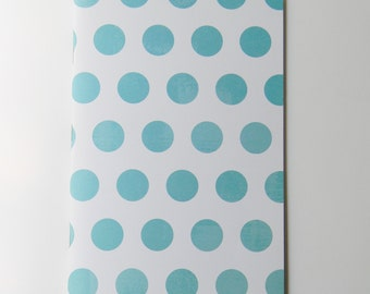 Turquoise and White Polka Dot Journal