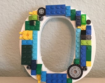 Letter O with LEGO® bricks  *Free Shipping*