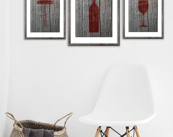 Wine Decor Wall Art wine wall art | etsy