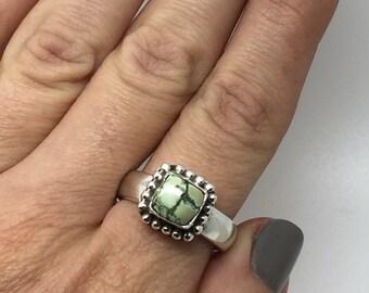 Ethnic silver ring with turquoise stone,boho ring, turquoise stone ring, turquoise jewelry,silver ring, turquoise ring,women ring,stone ring