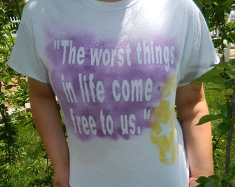 Personalized Spray Painted Tee Shirt