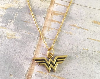 Wonder Woman Jewelry , Super Hero Jewelry, Mom necklace, For mother, For Teacher, You are my hero