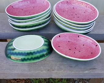 Set of 12 Vintage Watermelon Fruit Bowls Shafford Original 1982 MCMLXXXII 1980s