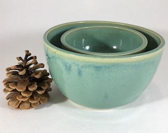 Wheel-Thrown Nesting Bowl, Prep Bowl Pair