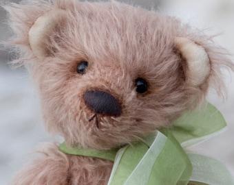 Teddy bear Louis 11 Inches (28 cm) Mohair, capuccino