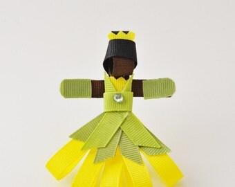 Tiana Princess and Frog Ribbon Hair Clip